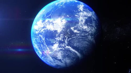 Realistic Earth Zoom India