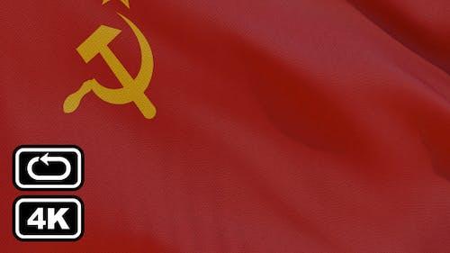 Soviet Union Flag 4K Seamless Loop