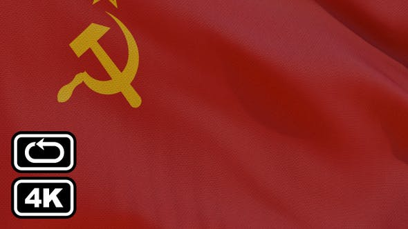Thumbnail for Soviet Union Flag 4K Seamless Loop