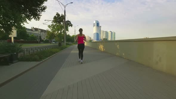 Thumbnail for Runner Woman Running In City Exercising Outdoors 16