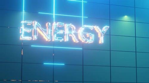 3d Rendern Text ENERGIE