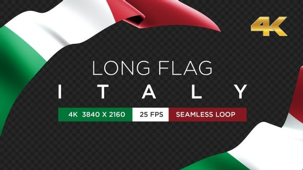 Long Flag Italy