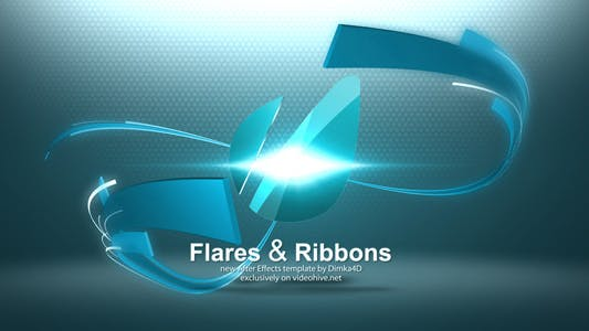 Flares & Ribbons Logo Reveal