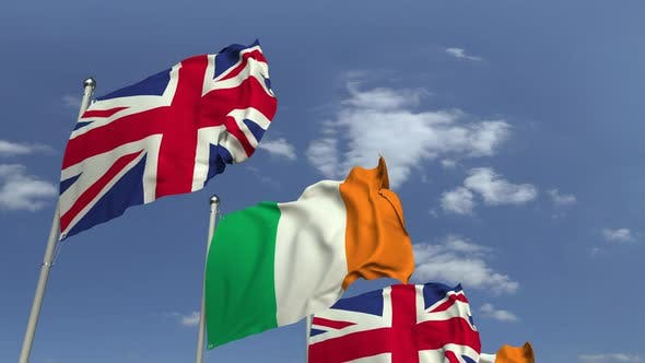 Flags of Ireland and the United Kingdom