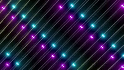 4k Colored Abstract Lights Vj Loop