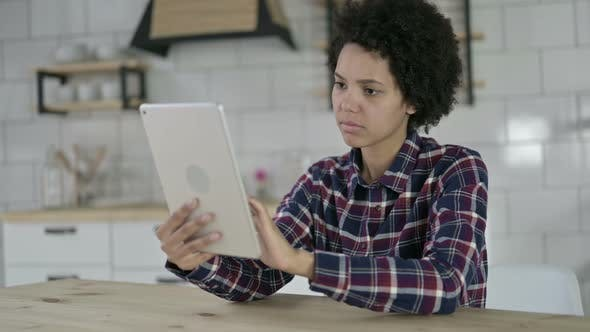 Thumbnail for Upset African American Woman Get Shocked on Tablet
