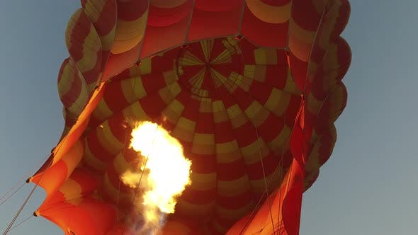 Thumbnail for Gas flame of hot air balloon in Luxor