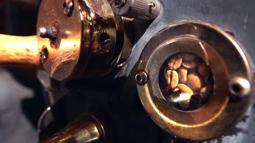 Coffee In Roasting Machine