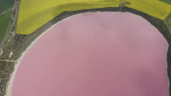 Aerial view of Dimboola lake.