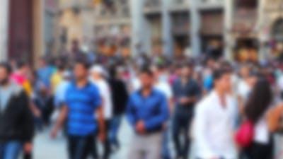 Crowded People On Street