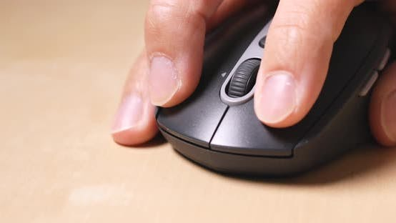 Thumbnail for Man use of computer mouse