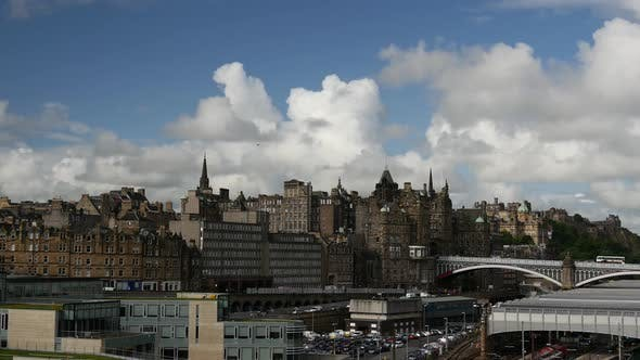 Thumbnail for Time lapse of the skyline Edinburgh