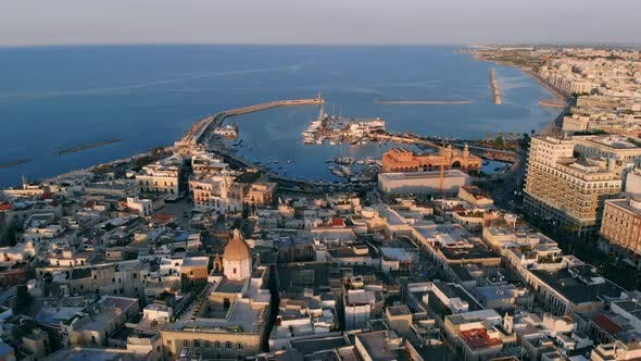 Thumbnail for Panoramic View of Old Town in Bari, Drone Shot, Puglia, Italy