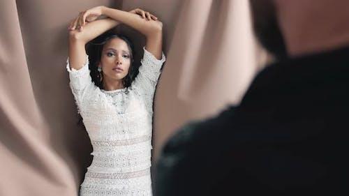 Female Model in Studio Photosession