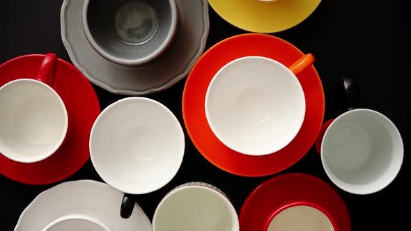 Thumbnail for Empty Colorful Modern Ceramic Plates and Cups Collection