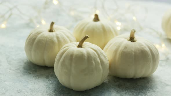 Thumbnail for White Pumpkins with Garland
