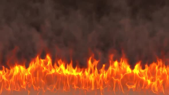 Thumbnail for Big Realistic Fire Flames With Smoke