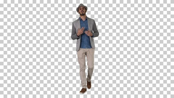 Thumbnail for Trendy Stylish Positive Cheerful Man Wearing Casual Shirt And
