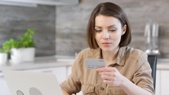 Thumbnail for Woman Making Online Payment with Bank Card and Laptop