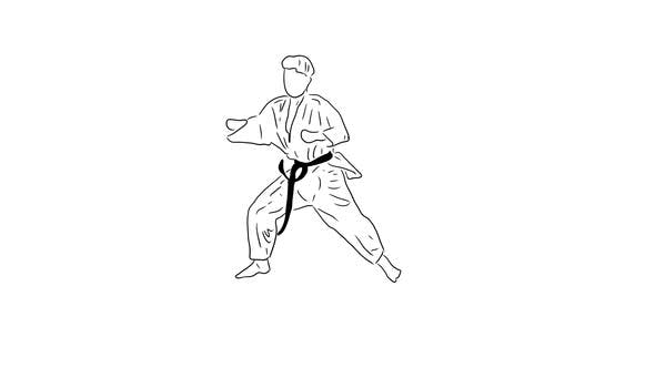 Hand Drawn Karate Moves 01
