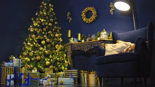 Interiors with Christmas Ornaments