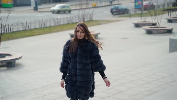 Thumbnail for Woman Posing on Street in City