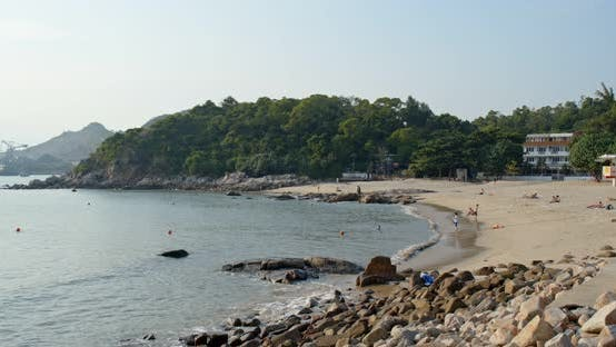 Thumbnail for Sandy beach and mountain island