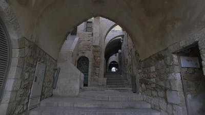 Passageway with stairs