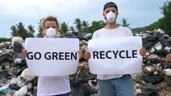 Thumbnail for Pollution Environmental Contamination - Activists Couple on Disposal Site.