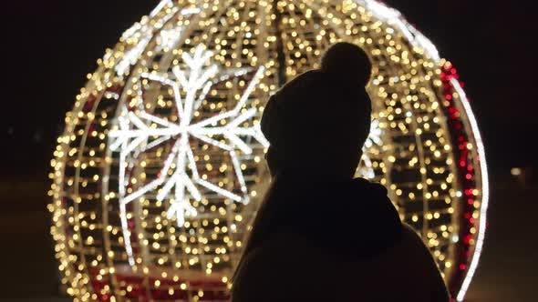 Christmas Bauble Silhouette