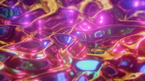Wavy Surface Iridescent Liquid Background