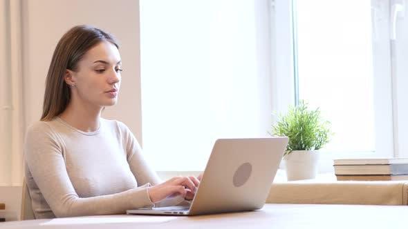 Thumbnail for Female Designer Typing on Laptop, Keyboard