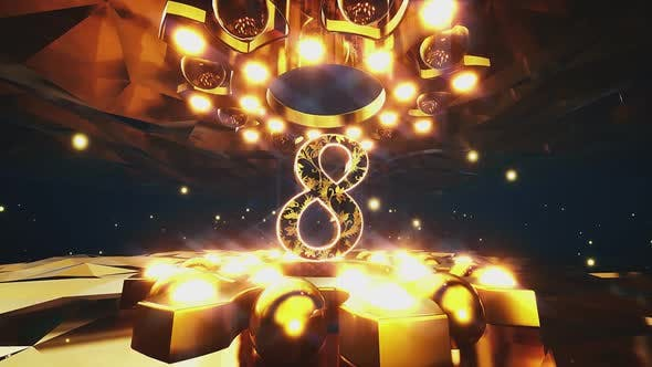 Gold Ornament Countdown Pack 4k