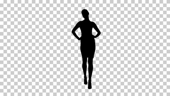 Thumbnail for Silhouette Glamour fashion woman brunette walking confidently