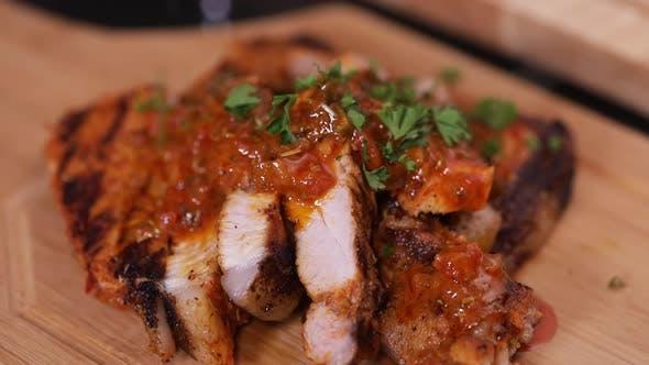 Thumbnail for Adding Garnish To Pork