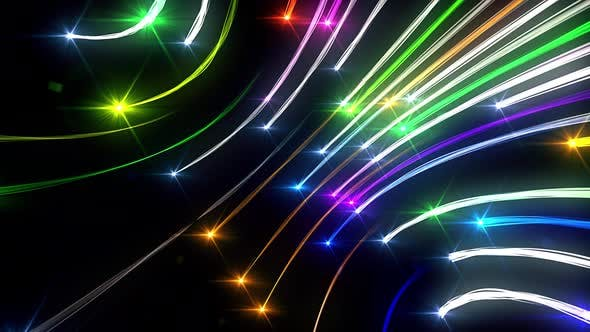 Colorful Diagonal Curved Light Trails Seamless Loop
