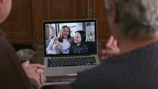 Thumbnail for Family having video call