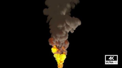 Flamethrower Rising Super Slow Motion