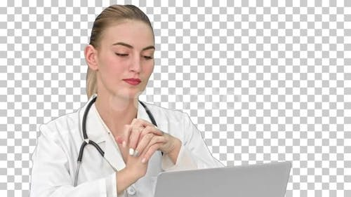 Doctor giving consultation to patient, Alpha Channel