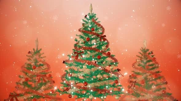 Christmas Tree Glittery Background