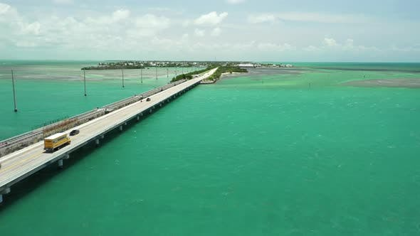 Thumbnail for Aerial video Overseas Highway bridge Florida Keys