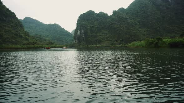 Thumbnail for Scenic Mountains Lake In The Ninh Binh Region Of Vietnam