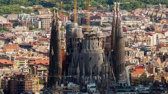 Thumbnail for barcelona sagrada familia urban city spain catalonia coast architecture