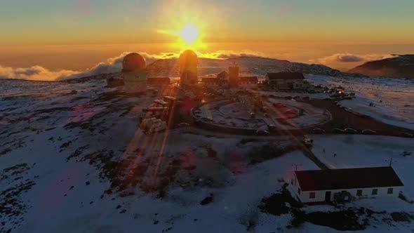 Thumbnail for Ski Resort Sunset. Beautiful Nature Landscape