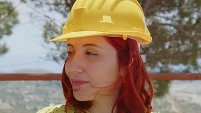 Close-up of young female engineer