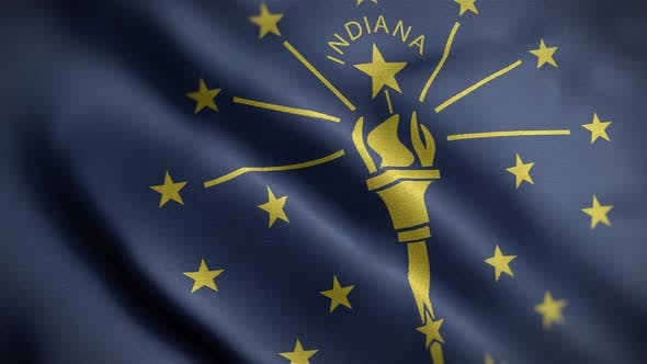 Indiana State Flag Close Up HD