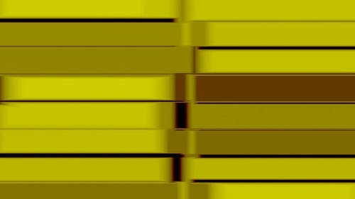 Seamless VJ Loop Golden Texture in the Form of Gold Bars