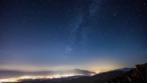 Night Sky Stars Time-Lapse Palm Springs