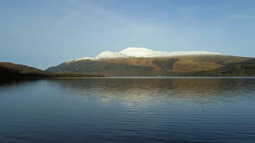 Loch Lomond and Snowcapped Mountains