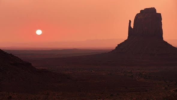 Thumbnail for Monument Valley, USA. Close-up Sunrise Shot in the Park